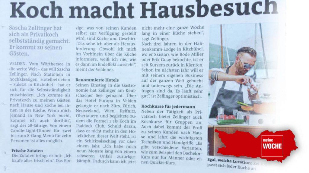 Cuisine-Lifestyle in der Kärntner WOCHE Villach - vom August 2017
