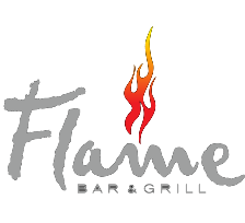 Sascha Zellinger am Grill im Flame Bar&Grill in Queenstown, Newzealand - Logo