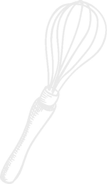 Cuisine-Lifestyle - Schneebesen Icon handgezeichnet